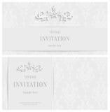 Fond 3d floral blanc de vecteur Calibre pour des cartes de Noël et d'invitation Photographie stock libre de droits