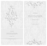 Fond 3d floral blanc de vecteur Calibre pour des cartes de Noël et d'invitation Image libre de droits