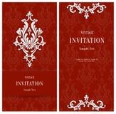 Fond 3d floral rouge de vecteur Calibre pour des cartes de Noël ou d'invitation Image stock