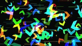 Fond 3D géométrique abstrait Surface géométrique dans le mouvement illustration de vecteur