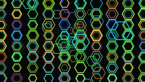 Fond 3D géométrique abstrait Surface géométrique dans le mouvement