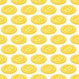 Fond 3d géométrique avec des bitcoins Photographie stock