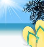 Fond d'heure d'été Sunny Beach Vector Illustration illustration stock