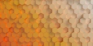 Fond d'hexagone Photographie stock