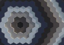 Fond d'hexagones Photographie stock libre de droits