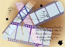 Fond d'histoire de film Photographie stock libre de droits