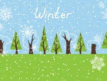 Fond d'hiver Photo libre de droits