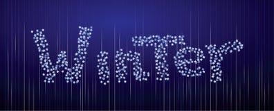 Fond d'hiver des confettis illustration de vecteur