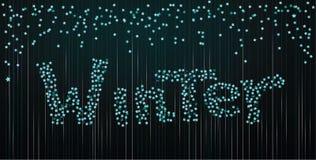 Fond d'hiver des confettis Photographie stock libre de droits
