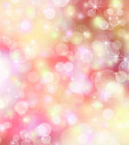 Fond d'hiver, fond lumineux de bokeh Photo stock