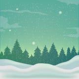 Fond d'hiver, paysage Images libres de droits