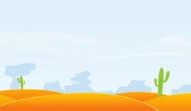 Fond d'horizontal de désert Photographie stock libre de droits