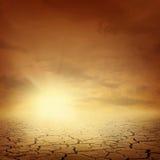 Fond d'horizontal de désert Images libres de droits