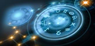 Fond d'horoscope d'astrologie illustration stock