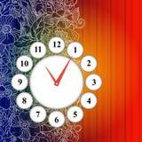 Fond d'icône de temps de vecteur. Photographie stock libre de droits