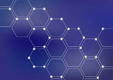 Fond d'illustration de vecteur de réseau neurologique ou de blockchain illustration stock