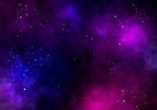 Fond d'illustration d'un espace infini avec des étoiles, galaxies, nébuleuses illustration de vecteur