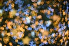 Fond d'image brouillé : Bokeh de coeur sur le fond brouillé Photos stock