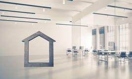 Fond d'image conceptuel d'offi moderne de connexion à la maison concret Images libres de droits