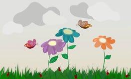 Fond d'image floral pour les sites Web relatifs d'enfants Photographie stock libre de droits
