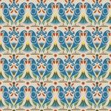 Fond d'image sans couture antique de la fleur animale de perroquet d'oiseau Photo libre de droits