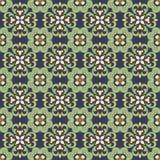 Fond d'image sans couture de kaléidoscope croisé en spirale vert-bleu de vintage Photos libres de droits