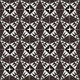 Fond d'image sans couture de la ligne croisée blanche modèle de triangle de noir de vintage de la géométrie Photos stock