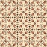 Fond d'image sans couture de modèle rond de forme de fan de fleur de brun de vintage Photo libre de droits