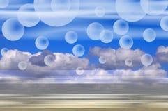 Fond d'imagination de nuages Photos stock