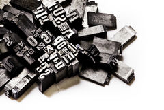 Fond d'impression typographique Image stock