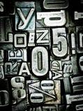 Fond d'impression typographique Images libres de droits