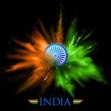 Fond d'Inde avec le souffle de couleur Photographie stock libre de droits