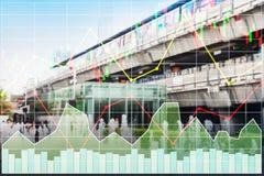 Fond d'indice des actions d'affaires de l'industrie du bâtiment lourd a illustration stock