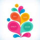 Fond d'Infographics pour des affaires Photos stock