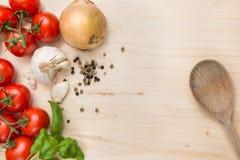 Fond d'ingrédients de nourriture Photographie stock libre de droits