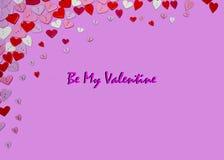 Fond d'insecte d'invitation de partie de jour de valentines de carte de jour de valentines Image stock
