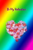 Fond d'insecte d'invitation de partie de jour de valentines de carte de jour de valentines Photographie stock libre de droits