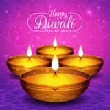 Fond d'insecte et d'affiche de festival de Diwali Images libres de droits