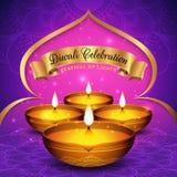Fond d'insecte et d'affiche de festival de Diwali Images stock