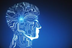 Fond d'intelligence artificielle Photo stock
