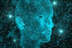 Fond d'intelligence artificielle et d'esprit illustration libre de droits
