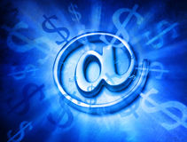 Fond d'Internet d'ordinateur de vente d'argent Photographie stock libre de droits