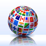 Fond d'Internet de globe d'indicateurs Photo stock