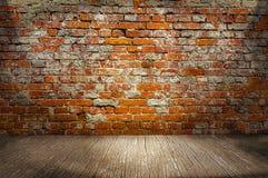 Fond d 39 int rieur avec le mur de briques jaune et le for Mur d ardoise interieur