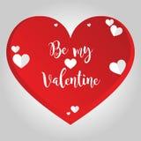 Fond d'isolement par coeur d'amour de valentines Image libre de droits