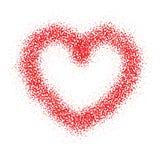 Fond d'isolement par coeur d'amour de valentines images libres de droits