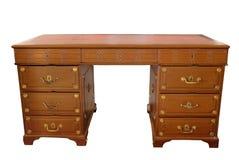 Fond d'isolement par table en bois Antic photographie stock