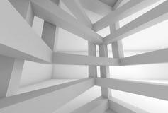 fond 3d L'espace interne de la construction entretoisée blanche Photos stock