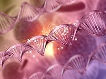 fond 3D médical avec des brins d'ADN Photographie stock
