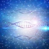 fond 3D médical avec des brins d'ADN Photos libres de droits